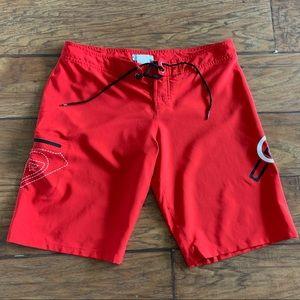 Roxy Red Board Shorts, Size 7